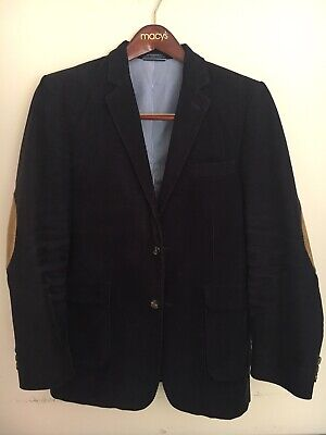 Tommy Hilfiger Boys Navy Blazer (Suit Jacket) With Elbow Patches , Size 18