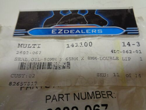 QTY 1 N.O.S Details about  /Arctic Cat Snowmobile 2602-067 Double Lip Oil Seal O.E.M
