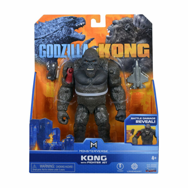 MonsterVerse Godzilla Vs. Kong 6-Inch Figure - Kong with Fighter Jet *BRAND NEW*