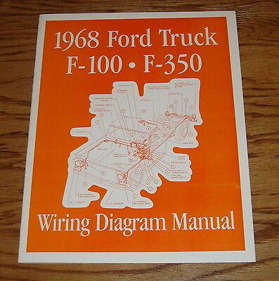1968 ford truck wiring diagram manual 68 f100 f250 f350  ebay