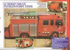 Fire engine Berliet KB6 Fourgon-Pompe Tonne France FPT FICHE Pompier FIREFIGHTER