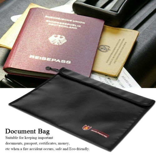 Feuerfeste Dokumententasche Querschnitt Passportz Geldzertifikate DE