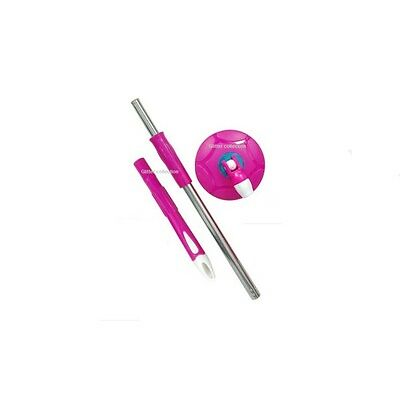 360 degree Magic Mop rotating Rod set steel rod set with dish ,best mop Pink