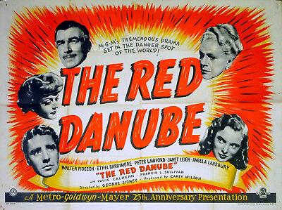 RED DANUBE 1949 Walter Pidgeon, Ethel Barrymore, Peter Lawford UK ...