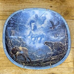 Snow-Rider-by-Linda-Medaris-Collectors-Plate-First-Issue-Visions-Of-The-Sacred