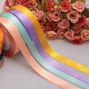 Sewing-5-8-Party-Single-Bow-Yards-Ribbon-Handicraft-Satin-Wedding