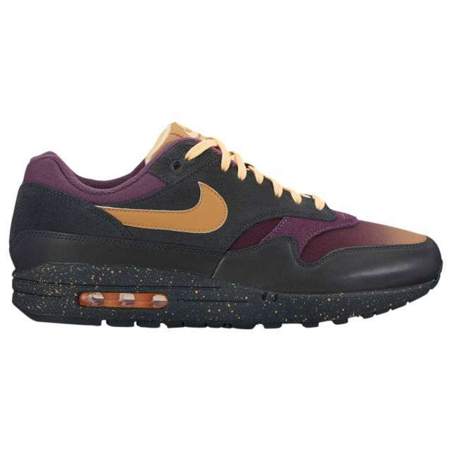 the best attitude 8145b 7337a Nike Air Max 1 Premium Men s Anthracite Elemental Gold Pro Purple 75844002