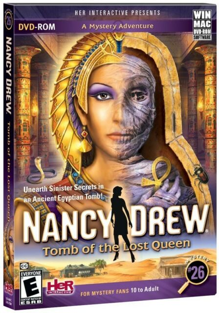 Computer Games - Nancy Drew: Tomb of the Lost Queen - Windows PC Mac Computer Game - Mystery # 26