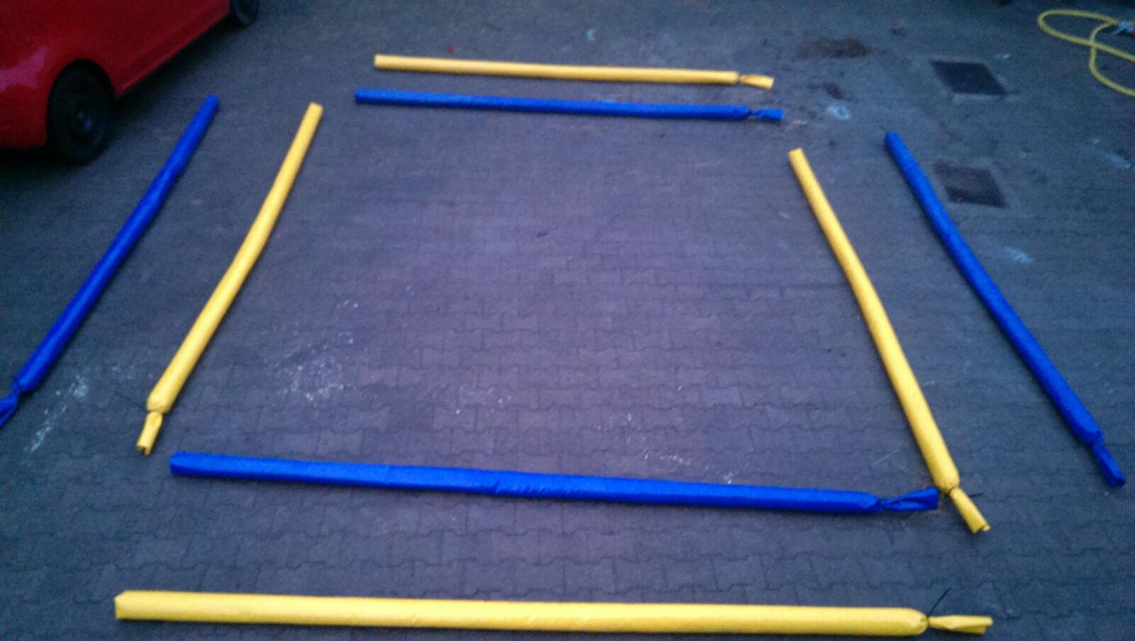 4 Bodenarbeit Stangen 2 Blau 3,2m 2 Gelb 3,2m Blau Gefüllt Trabstangen dual aktivierung 65694f