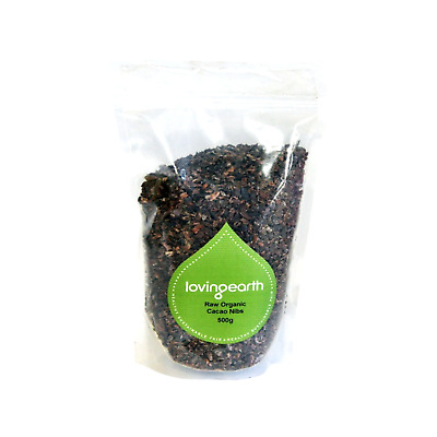 LOVING EARTH Raw Organic Cacao Nibs 500g * FREE POST *