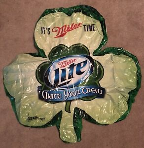 Miller Genuine Draft Miller Lite 4ft Inflatable Shamrock