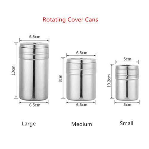 Stainless Steel Spice Sugar Salt Pepper Shaker Seasoning Cans Jar Cruet Bottle