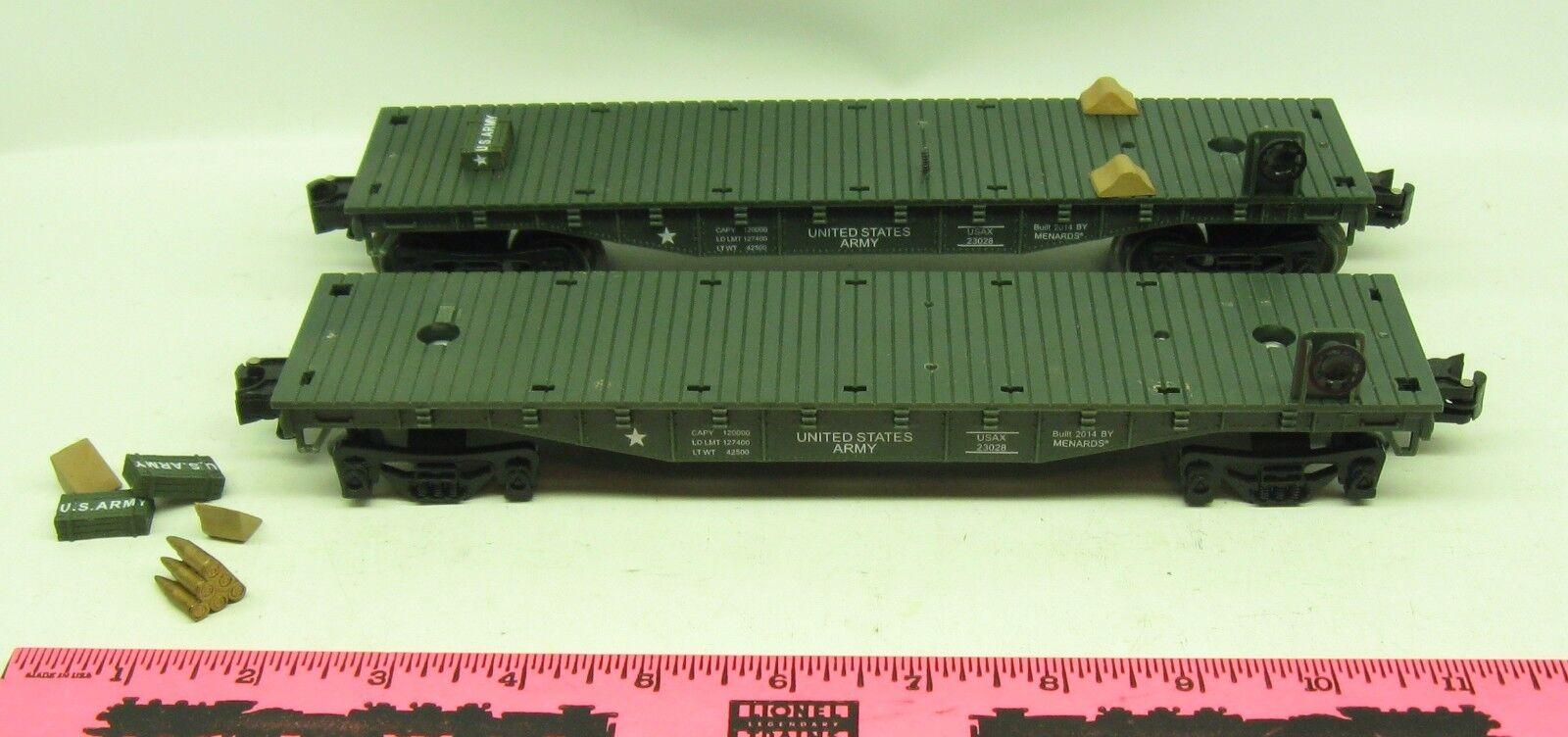Menards   2  U.S. Army flatcar parts