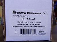 Lighting Components 6000 60ma Neon Transformer Indoor/outdoor Type3 Parts