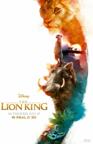 """The Lion King - B2G1F 11/"""" x 17 T9 Movie Collector/'s Poster Print"""