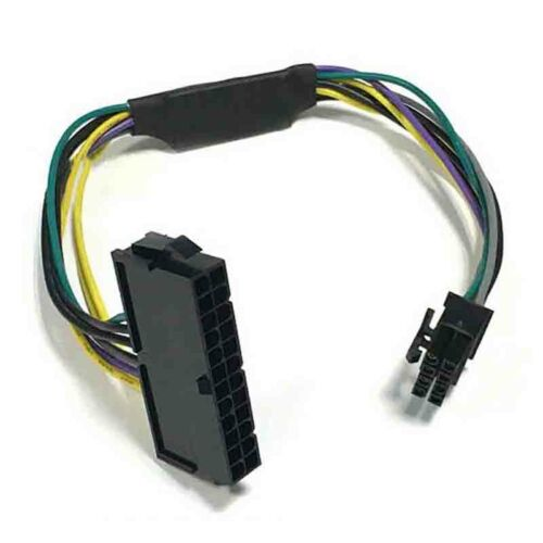 24Pin Female to DELL Optiplex Server Motherboard 8Pin Male Adapter Power CableRS