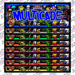 Multicade Maze Series Arcade Cabinet Game Graphic Artwork
