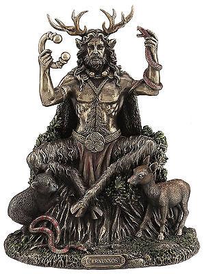 Celtic God- Cernunnos Sitting figure sculpture home decor