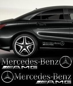 Details Zu Mercedes Benz Amg Aufkleber Seitenaufkleber 2 Stk Spiegel Chromeffekt Folie