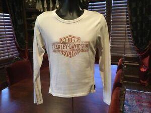 Trunk Brand Original Harley Davidson Womens Shirt. Beige. Fitted. Size Large