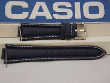 Casio Watch Band EF-506 L-7 Dark Blue 13mm x 22mm Leather Strap. Watchband