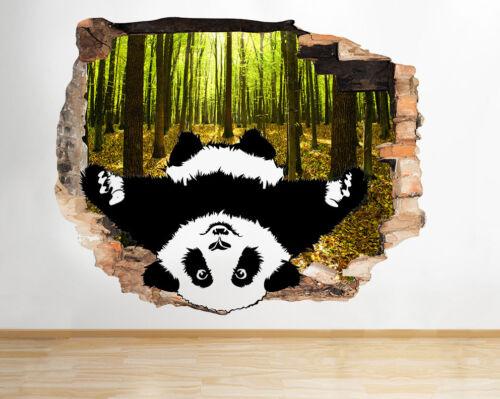 J800 Lindo Panda abrazo de oso árboles rompía la etiqueta de la pared 3D Art Stickers Vinyl Habitación