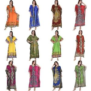 f0fba8ca39 Wholesale lot 5 Pcs Assorted Women Long Kaftan Bohemian Casual Beach ...