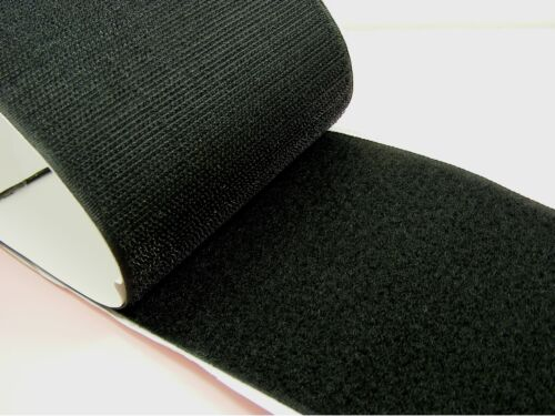 50CM or 1M x BLACK 100mm Width SELF Adhesive HOOK and LOOP Fastener TAPE