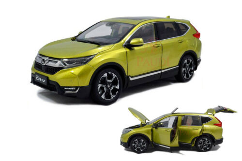 1:18 échelle 1//18 HONDA CR-V CRV 2017 SUV jaune Diecast Voiture Modèle Paudi Model