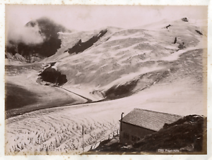 Autriche-Alpes-Prager-Hutte-gite-de-montagne-Vintage-albumin-print-Tirage