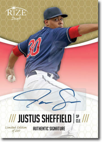 JUSTUS SHEFFIELD 2014 Rize Draft *GOLD* Certified AUTOGRAPH RC Only 200 Made!