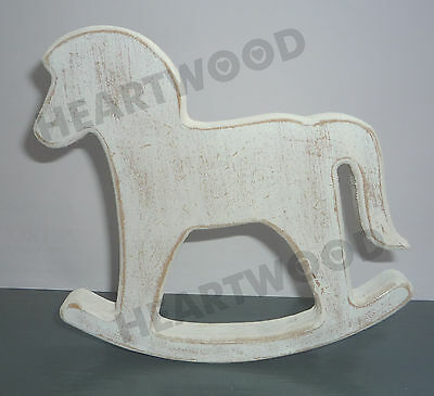 SHABBY CHIC ROCKING HORSE SHAPE IN MDF (100mm x 18mm thick)/WOODEN CRAFT SHAPE