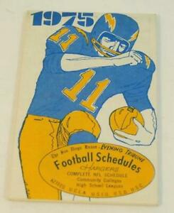 1975 San Diego Union Football Schedules: Chargers, Aztecs, UCLA, USC & More..