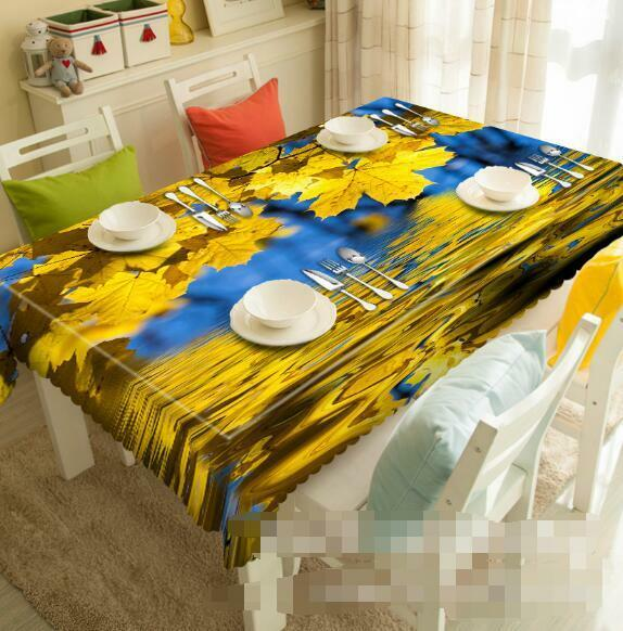 3D Hanging Leaves Tablecloth Table Cover Cloth Birthday Party Event AJ WALLPAPER