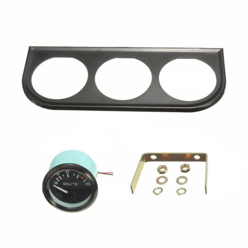 "Oil Temp Water Temp Oil Pressure 2/"" 52MM LED Light 3 Car Pointer Gauge Kit"