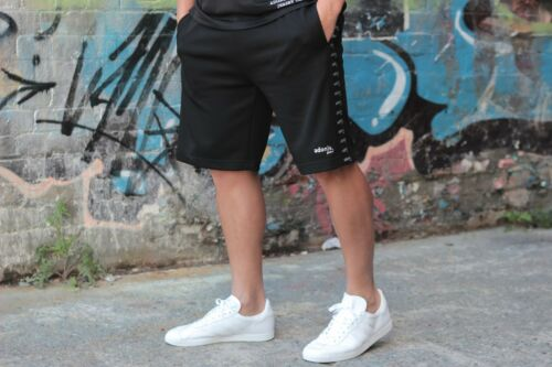 TRAINING SHORTS MENS RUNNING GYM BLACK ADONIS.GEAR- VINTAGE BODYBUILDING
