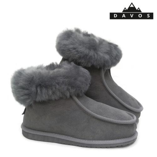 Lara Ladies Women/'s Deluxe 100/% Pure Twinface Sheepskin Boots Slippers EVA Sole