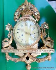 VINTAGE SWEDISH 8 DAY TWO TRAIN CARTEL GALLERY WALL CLOCK SERVICED
