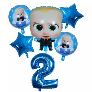 Baby Boss 6pcs foil  Balloons Party Supplies New.