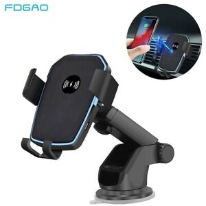 2 in 1 Qi Wireless Fast Charging Car Charger Mount Holder Stand For iPhone 11 XS