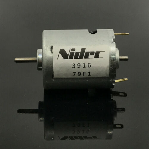 Nidec DC 12V-24V 9800 tr//min grand couple Dual 2.3 mm Arbre Mini RS-365 Motor RC Jouet