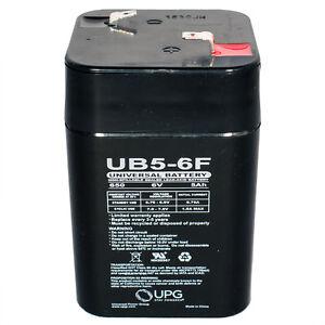 UPG-UB650F-Lantern-6V-5Ah-Wheelchair-Medical-Mobility-Sealed-Lead-Acid-Battery