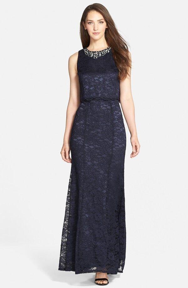 Eliza J Embellished Lace Gown (Größe 10)