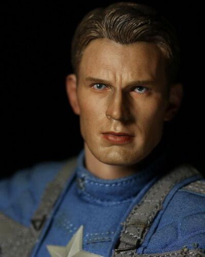 1//6 Chris Evan Captain America 5.0 Head Sculpt Custom For Hot Toys Figure ❶USA❶