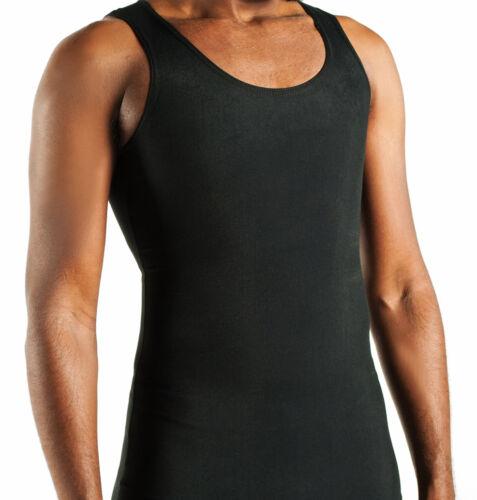 GYNECOMASTIA COMPRESSION UNDERSHIRT 6 SHIRTS Large BLACK