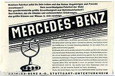 Mecedes Benz--kennt keinen Stillstand nur Fortschritt-Werbung von 1928