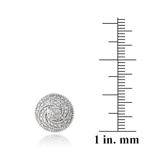925 Argent 1//10ct Diamant Spirale Ronde Boucles D/'oreilles Clou