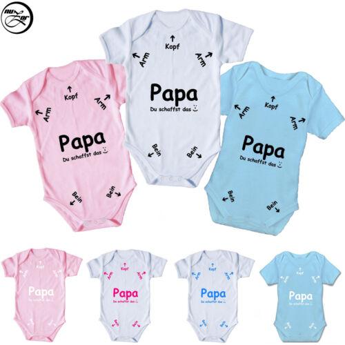 """Baby Body /""""Papa Du schaffst das/"""" Spruch,Motiv,Geburt,Geschenk,Druck,Liebe"""