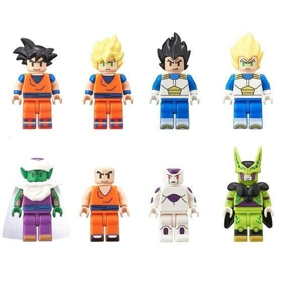 Dragon Ball Figme Lego Action Figure Collection Box - Complete Set