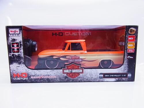 2222 maisto 82041 R//C Chevrolet c-10 /'64 Harley-Davidson maqueta de coche 1:16 nuevo embalaje original
